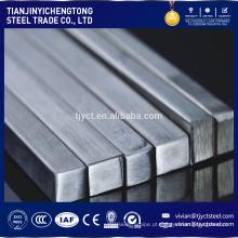 Inox AISI 316 SUS 201 202 304,304L, 316L, 321,430 barra de haste quadrada em aço inoxidável decapada