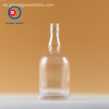 Wodka Flasche Runde Form Transparent Klarglas