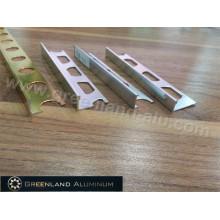 Bright Silver L Shape Tile Trim for 8mm, 10mm, 12mm Tile