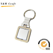 Square Personalized Metal Key Ring Keychain Keyholder (Y02453)