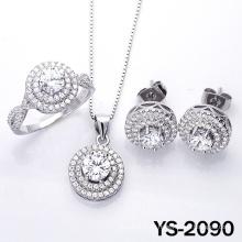 Joyería de moda joyería de diamantes engastada en plata 925.