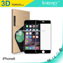 Para el protector de pantalla de cristal templado de fibra de carbono de cubierta completa Iphone6 3D, protector de pantalla de vidrio templado de 0.2mm para Iphone6