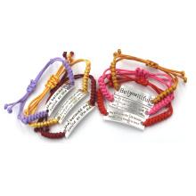 Нержавеющая сталь персонализированные моды браслеты и браслеты