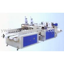 Alta velocidade automática duas linhas colete saco que faz a máquina de impressão