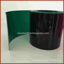 Зеленый цвет жесткая ПВХ пленка для елки Оставить и гирлянды
