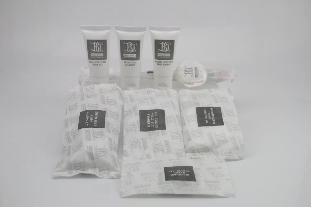 Hotel Amenities Flow Pack With Hotel Logo