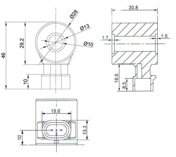 Dimension of BB10230806 Solenoid Coil: