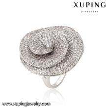 Fashion Luxury CZ Rhodium-Plated Women Imitation Jewelry Finger Ring Shaped with Mushroom -13867