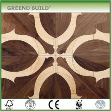 Suelo de madera del dormitorio del parquet del arte