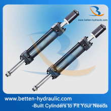 Piston Cylinder Structure and Double-Ended Hydraulic Cylinder for Forklift