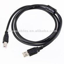 1,5 м 5 футов USB для принтера Кабель 2.0 Стандарт am к bm M / M Черный