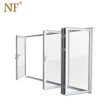 Foshan aluminum folding door garage exterior accordion doors