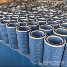 Filtro de admissão de ar de turbina a gás tipo cilíndrico longo