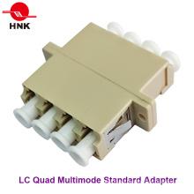 LC Quad многомодовый стандартный пластиковый оптоволоконный адаптер