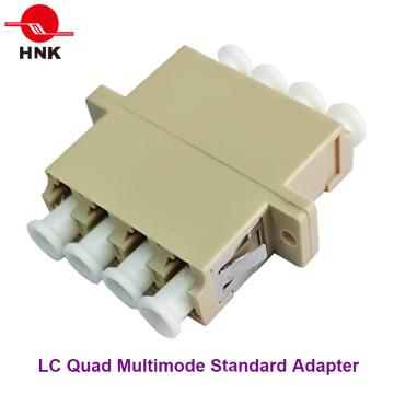LC Quad Multimode Standard Plastic Fiber Optic Adapter
