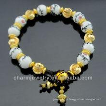 Bracelet à perles en bambou à la main fabriqué à la main BC-005