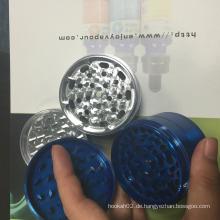 Neueste 4 Schichten Metallschleifer Ecigator Raucher Grinder Handle Rolling Herb Grinder