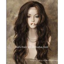 Красивая 100% человеческих волос полный парик шнурка