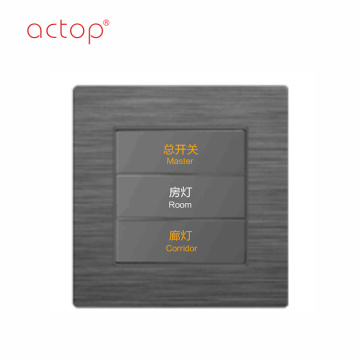 Shenzhen Actop cableado 1 Gang Smart Hotel Switch