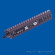 Fuente de alimentación al aire libre del conductor DC12V IP67 para la lámpara del LED