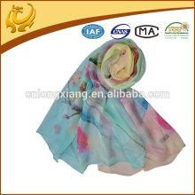 Estilo novo Hijab Digital Impresso 100% xale de seda xaile de seda turco