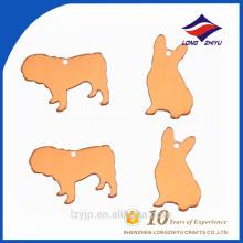 Wholesaler cheap price blank samll animal shape dog tag