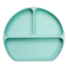 BPA Free Toddler Kids Feeding Suction Plate Silicone Baby Dinner Plates