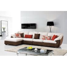 Sofá moderno de la esquina de la tela de los muebles de la sala de estar