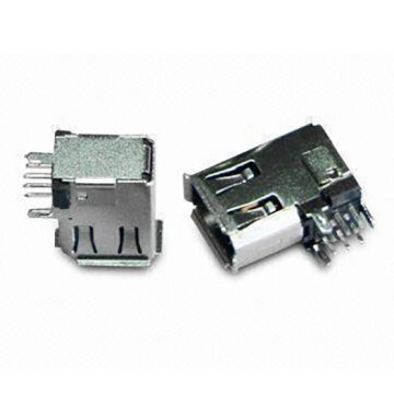 1394 6P Receptacle Angle Side-entry