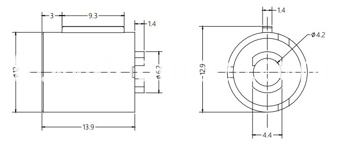 Barrel Damper Drawing For Car Door Handle