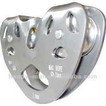 TP973SS Stainless Steel Tandem Zip Line Pulley for Wire Rope Use