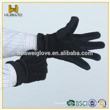 Mode elastische gestrickte Manschette und Finger-Design Männer Wildleder Leder Handschuhe, Hand Handschuhe