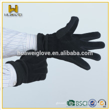Mannequin élastique à la mode et doigts hommes en cuir suède, gants à main