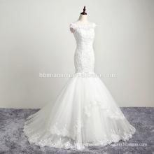 Supplier Custom Made Cap Sleeve Ball Gown Champagne Wedding Dress 2016