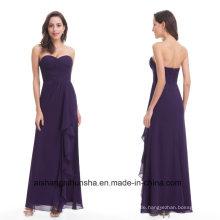 Frauen-elegantes trägerloses langes reizvolles Chiffon- Abend-Kleid