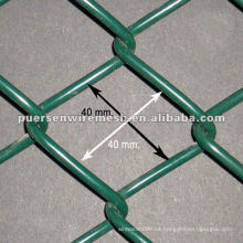 Durable Color PVC Coated Chain Link Valla cerca del panel