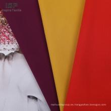 tela de algodón de nylon tejido liso color liso