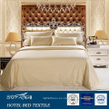 100% algodón 400TC, juego de cama de hotel de tela de lujo de color claro 600TC