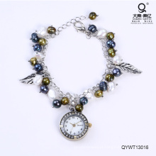 Elegante impermeável relógios relógio pérola de água doce