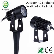 Éclairage RVB extérieur 3watt led spike light