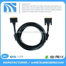 DVI от мужчины к женскому кабелю DVI-D M / F 12 футов (позолоченные)