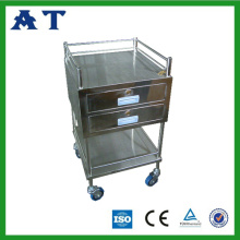 Chariot Instrument hôpital avec deux tiroirs