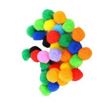 Hot selling DIY Multi color Craft  Fluffy PomPoms for kids