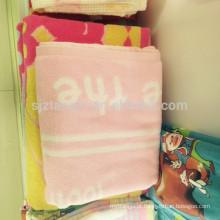 Toalha personalizada barato para crianças, toalha de banho de algodão