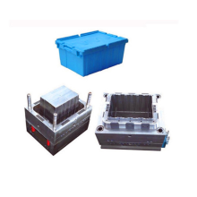 Attached Lid Nest and Stack Container Totes