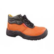 China profesional estándar PU / cuero de seguridad de trabajo de los zapatos industriales