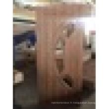 Porte d'intérieur glacé WPC revêtue de PVC et de haute qualité fabriquée à la Turquie