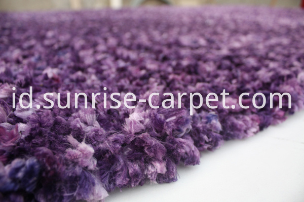 100% Polyester Shaggy rug purple color