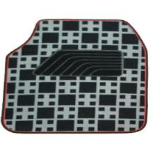 Carpet Car Mat Flat Foot Pad Check Pattern