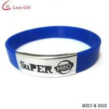 Custom Logo Silicone Bracelet with Metal Buckle (LM1638)
